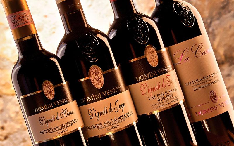 Domìni Veneti - quartetto di vini della Valpolicella
